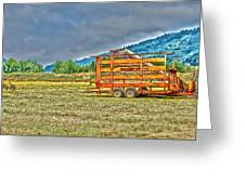 The Working Field Greeting Card by Richard J Cassato