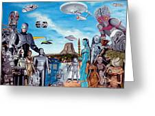 The World Of Sci Fi Greeting Card