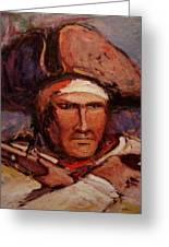 The Wounded Patriot Greeting Card by R W Goetting