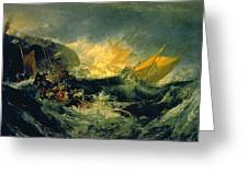 The Wreck Of A Transport Ship Greeting Card