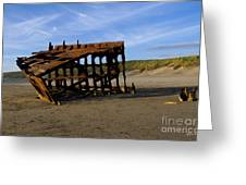 The Wreck Of The Peter Iredale - Oregon Greeting Card