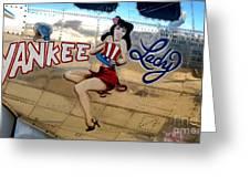 The Yankee Lady Greeting Card