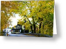 The Yardley Inn In Autumn Greeting Card