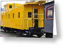 The Yellow Train Greeting Card