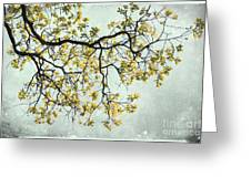 The Yellow Tree Greeting Card by Sharon Coty