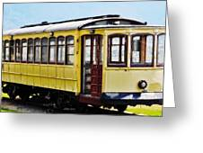The Yellow Trolley Car Greeting Card