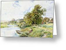The Young Angler Greeting Card