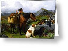 The Young Gamekeeper Greeting Card