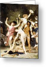 The Youth Of Bacchus Detail Greeting Card