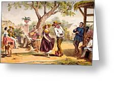 The Zapateado - National Dance, 1840 Greeting Card