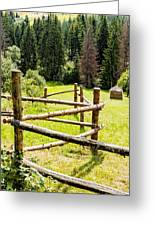 The Zig-zag Fence Greeting Card