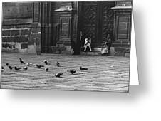 The Zocolo Mexico City Mexico 1970 Greeting Card