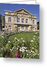 Theater Building Baden-baden Germany Greeting Card