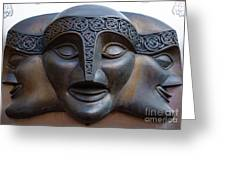 Theater Mask Greeting Card