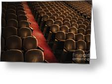 Theater Seats Greeting Card