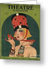 Theatre 1923 1920s Usa Magazines Art Greeting Card