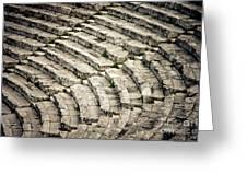 Theatre At Epidaurus Greeting Card by Gabriela Insuratelu