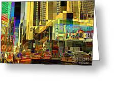 Theatre District - Neighborhoods Of New York City Greeting Card