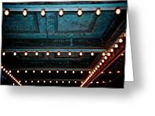 Theatre Lights Greeting Card