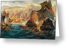 The Crusader Invasion Of Constantinople Greeting Card