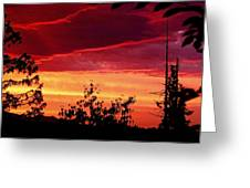 Thee Sunset Of Summer 2014 Greeting Card