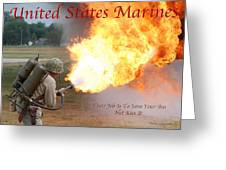 Their Job Is To Save Your Ass Usmc Greeting Card