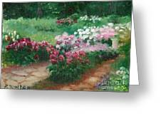 Thelma Steel's Garden Greeting Card