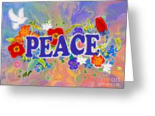 Themes Of The Heart-peace Greeting Card