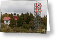 Grand Traverse Lights - Then And Now Greeting Card