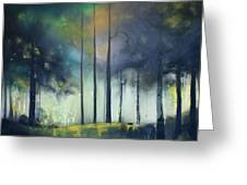 There Is Light At The End Of The Woods Greeting Card