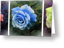There Were Roses Triptych 2 Greeting Card