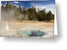 Thermal Landscape Greeting Card