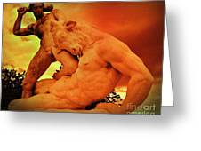 Theseus And The Minotaur Greeting Card