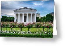 Theseus Temple In Roses Greeting Card by Viacheslav Savitskiy
