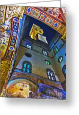 Viev From Courtyard Of Palazzo Vecchio Florence Greeting Card