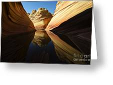 The Wave Reflected Beauty 1 Greeting Card