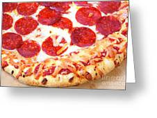 Thick Crust Peperoni Pizza Greeting Card