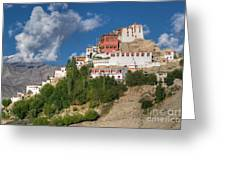 Thiksay Monastery Ladakh Jammu And Kashmir India Greeting Card