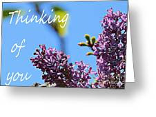 Thinking Of You - Greeting Card - Lilacs Greeting Card