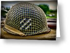 Third Infantry Division Helmet Greeting Card