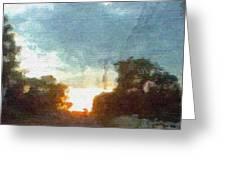 Third Sunset Greeting Card