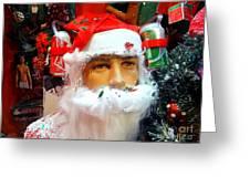 Thirsty Santa Greeting Card