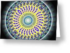 Thirteen Stage Alchemy Kaleidoscope Greeting Card by Derek Gedney