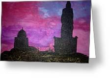 Thiruvalluvar Statue In Kanyakumari Greeting Card