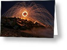 This Is A Shot Of Me Spinning Burning Greeting Card