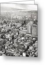This Is Tokyo In Black And White Greeting Card