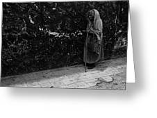 This Old Woman Was In Her Youth During The 1910-1920 Mexican Revolution Guadalajara Jalisco Mexico  Greeting Card