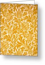 Thistle Wallpaper Design, Late 19th Greeting Card