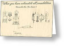 Thomas Edison Quote Greeting Card