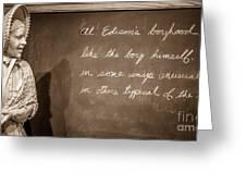 Thomas Edison's Boyhood School Greeting Card